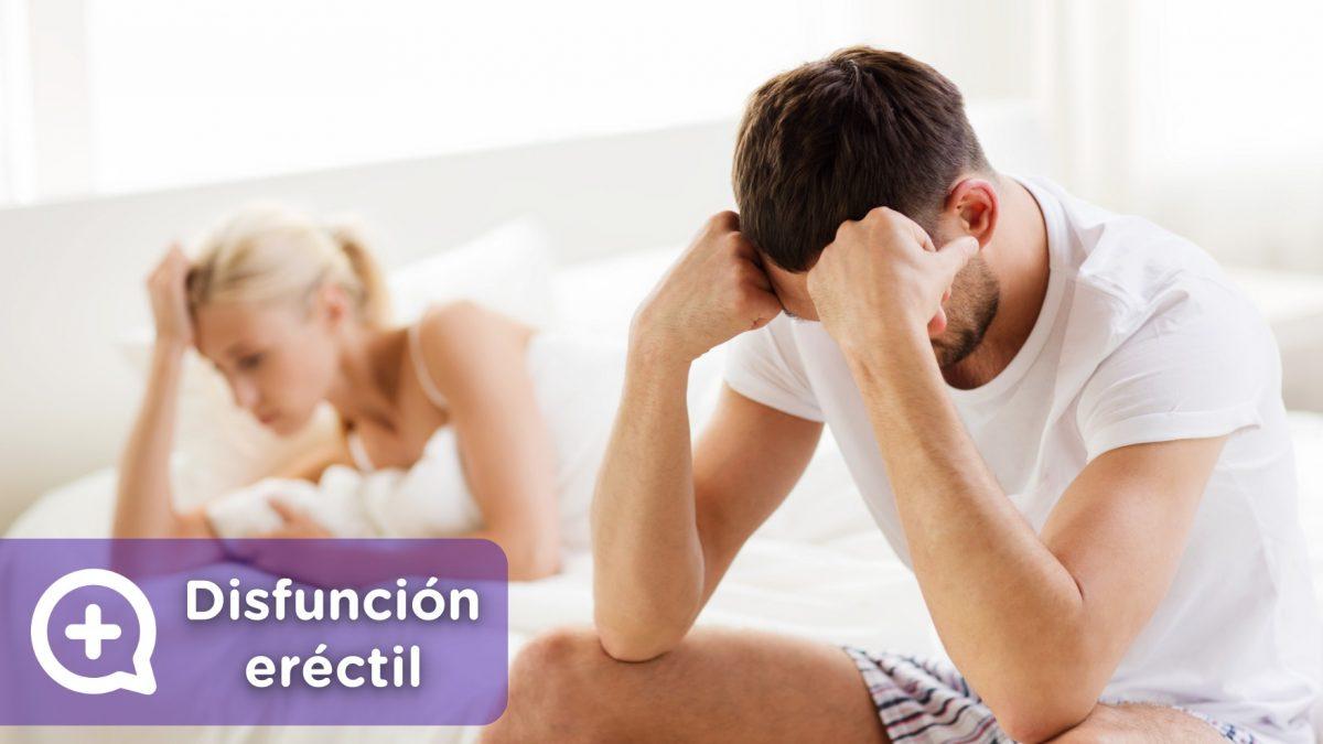 Pareja en la cama después de tener disfunción eréctil, gatillazo o impotencia