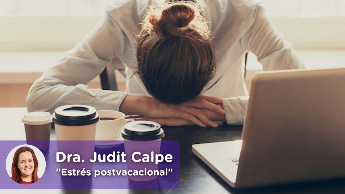 Estrés post-vacacional, depresión, vuelta al trabajo. MediQuo, chat médico. Tu amigo médico. Judit Calpe.