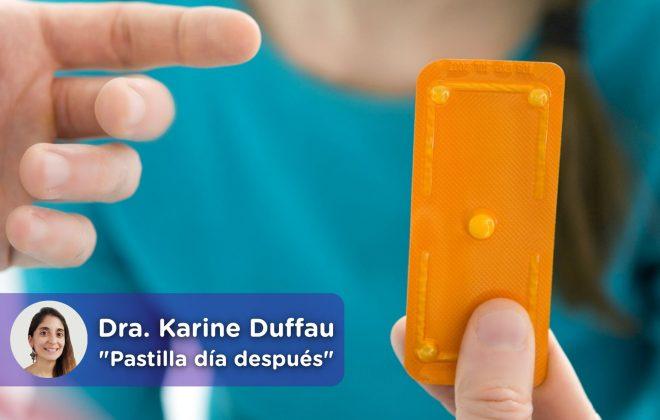 La pastilla del día después, anticonceptiva. Doctora Karine Duffau. mediQuo, tu amigo médico. Chat médico.
