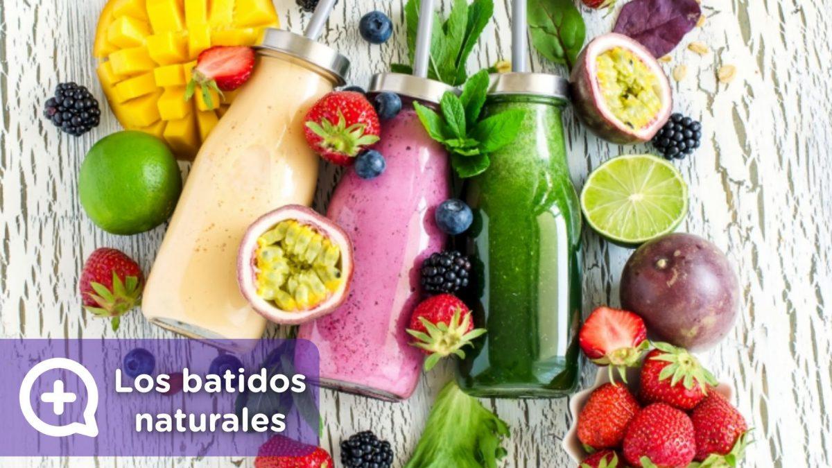 Batidos naturales de fruta. Fuente de vitaminas, antioxidantes. Mediquo, tu amigo médico. Chat médico. Nutrición.