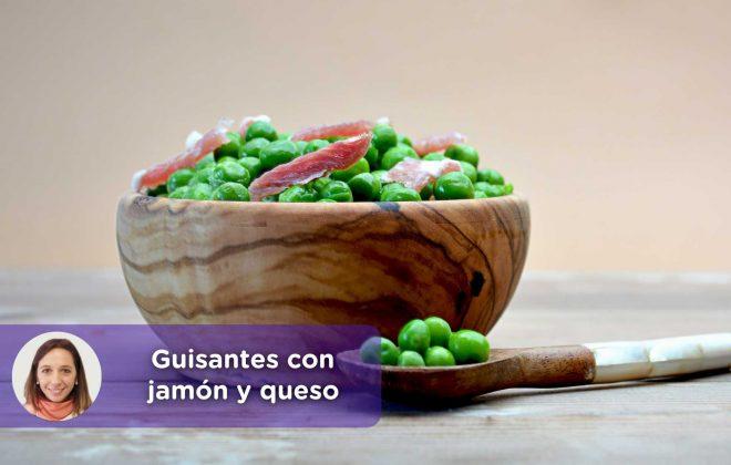 Mediquo-Guisantes-con-jamón-y-queso-Cristina-Romagosa_post Receta_ nutrición