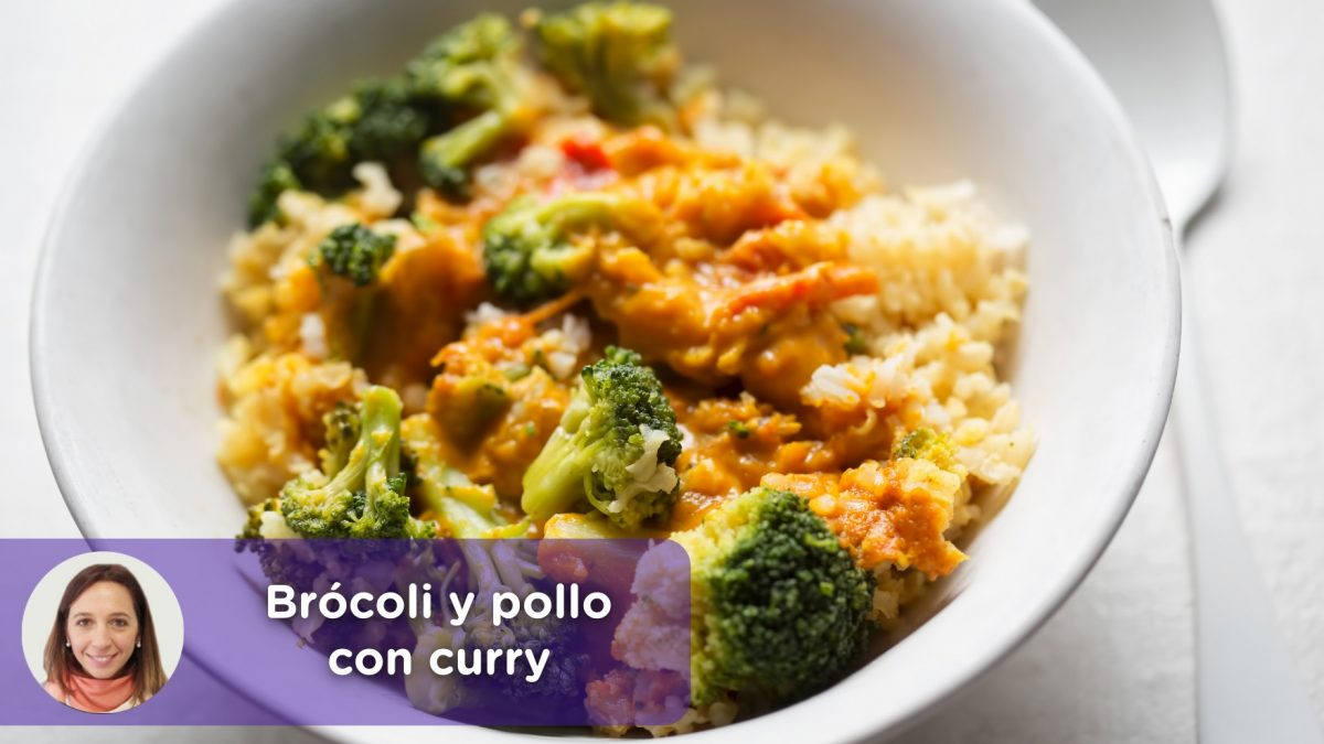 Receta brócoli y pollo con curry. Nutrición. Recetas. Mediquo. Cristina Romagosa.