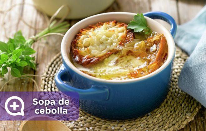 Receta sopa de cebolla gratinada. Nutrición. Recetario. Salud. Mediquo.