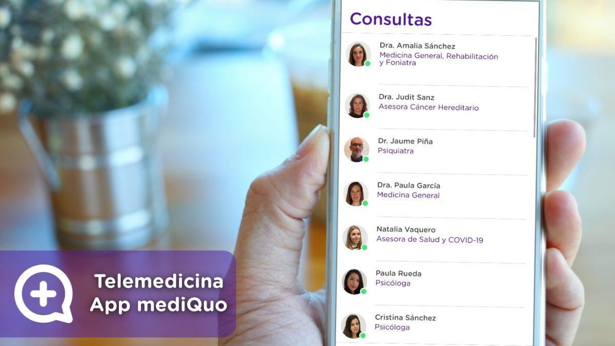 App, telemedicina, chat, mediquo, medicos, medico, android, ios, móvil, asesor de salud