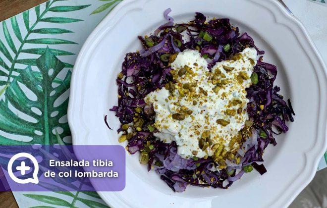 Receta ensalada tibia de col lombarda, recetas fáciles, recetas, mediquo, nutrición, salud