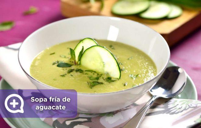 sopa fría de aguacate, recetas, recetas fáciles. mediquo, salud, nutrición