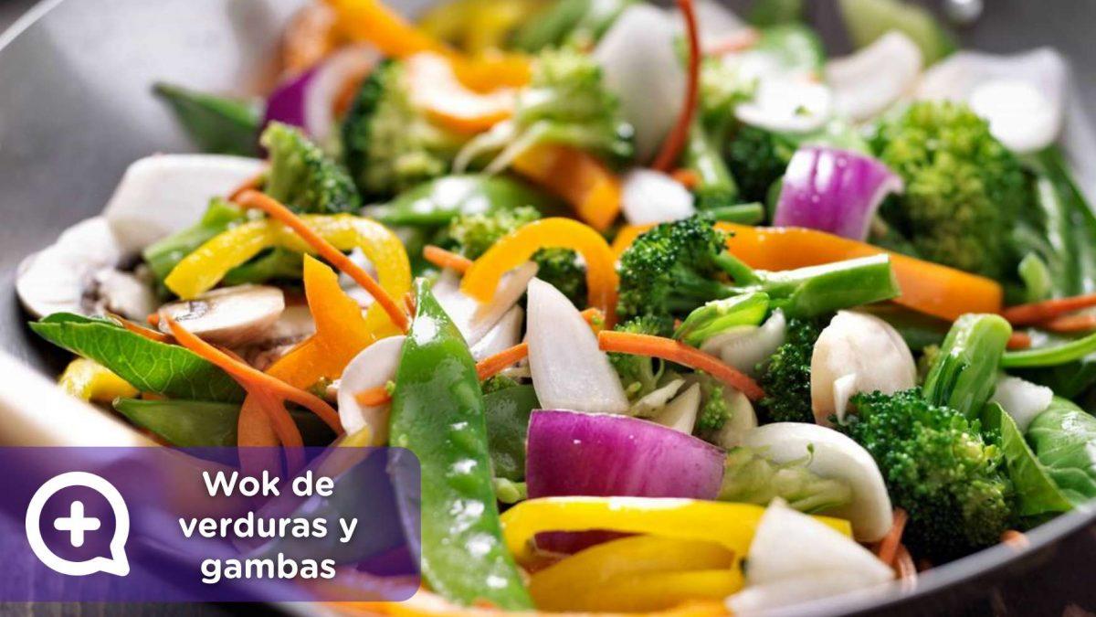 receta, recetas fáciles, receta wok de verduras y gambas, mediquo, salud, nutrición