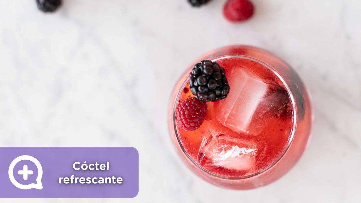 cóctel refrescante, moras, fruta, pomelo, agua, minerales, recetas, verano, mediquo