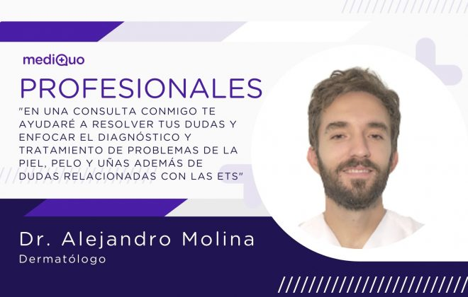 Alejandro Molina Leyva Dermatólogo Profesionales blog mediQuo. Telemedicina. Consulta online. Dermatología Clínica.