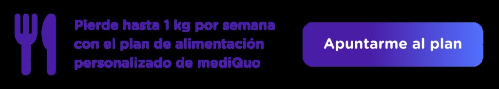 Banner plan nutrición mediQuo, perder peso, kilos, dieta