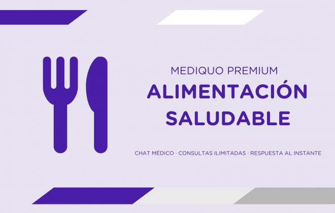 Alimentación saludable plan premium mediQuo. Asesoría Digital. Telemedicina. Chat médico. Salud.