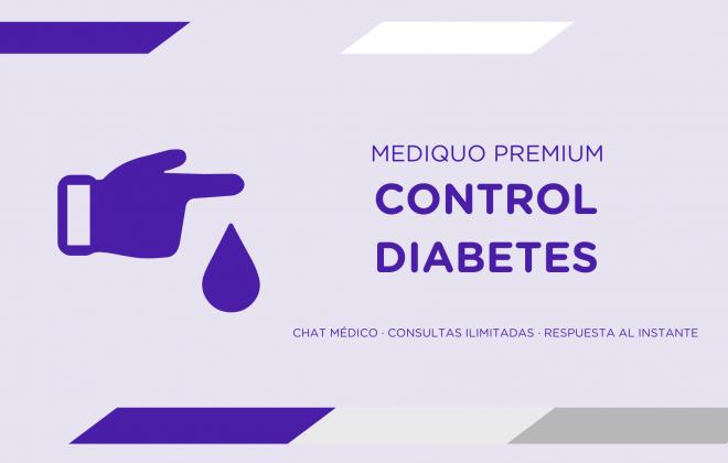 Control Diabetes plan premium mediQuo. Asesoría Digital. Telemedicina. Chat médico. Salud.