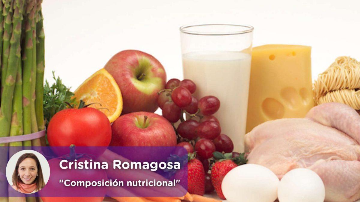 Composición nutricional de alimentos más consumidos en España. MediQuo. Salud. Chat médico. Alimentación sana,