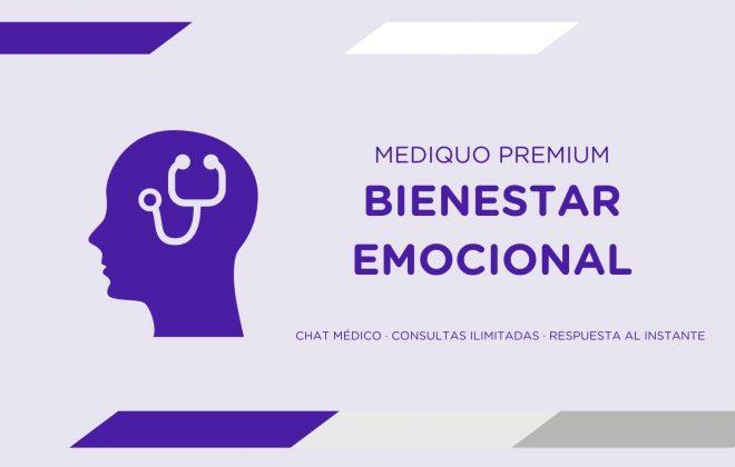 Bienestar Emocional Plan premium mediQuo. Asesoría Digital. Telemedicina. Chat médico. Salud.