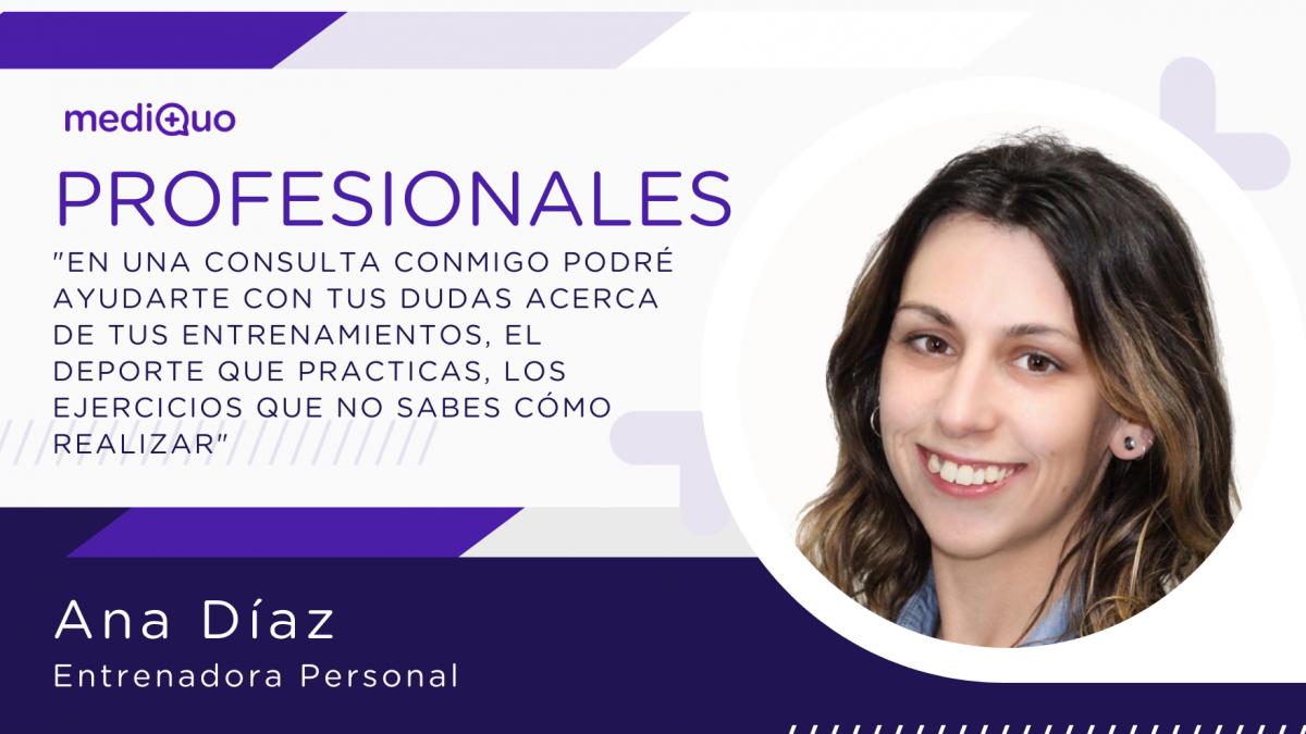 Entrenadora personal, perder peso, vida sana, vida saludable, entrenamiento en casa, mediQuo, Salud, Chat médico, Ana Díaz