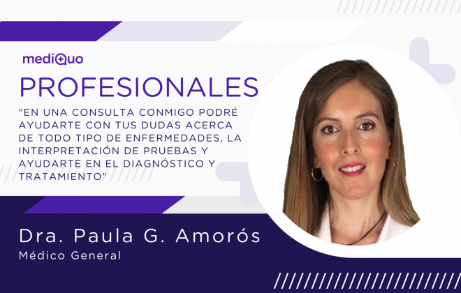 Profesional Dra. Paula García Amorós, médico general, mediQuo, telemedicina, consulta online. Medicicina estética. MediQuo