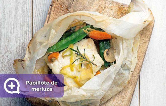 Receta papillote de merluza con almejas y verduras. Recetas fáciles, receta, nutrición, mediquo, salud.