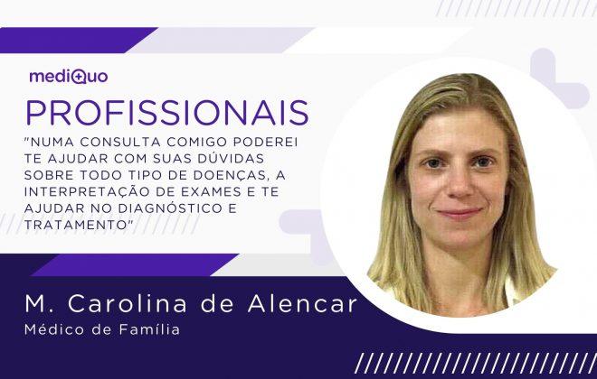 Maria Carolina Alencar Profissionais blog mediQuo. médico de família. saúde.
