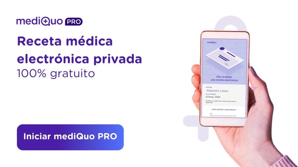 MediQuo PRO web receta médica electrónica privada. Telemedicina. Confinamiento. Médicos, pacientes, digital. medicación, medicamentos, farmacia, farmacéuticos