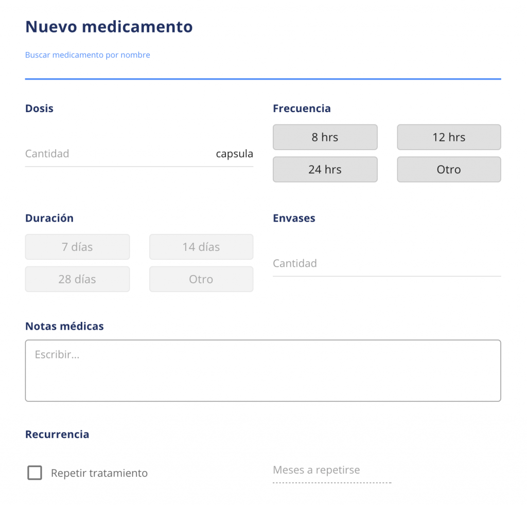 Crear receta mediQuo PRO web