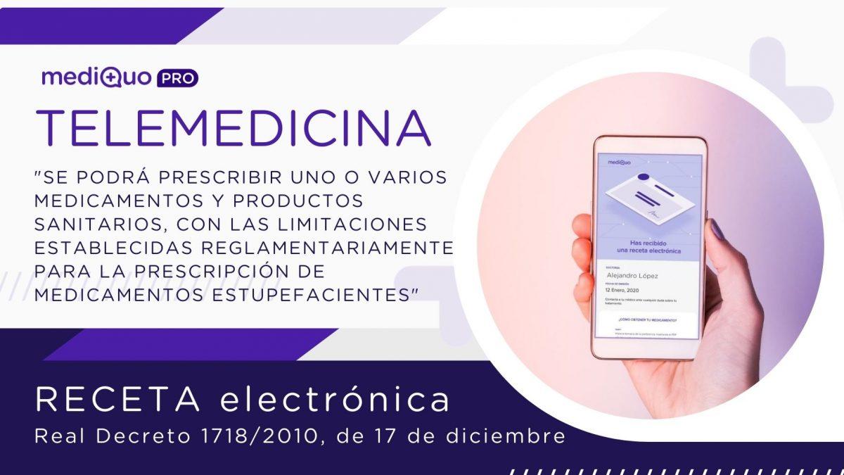 Receta médica electrónica privada mediQuo Pro web. Telemedicina. Médicos, Sector sanitario, confinamiento.