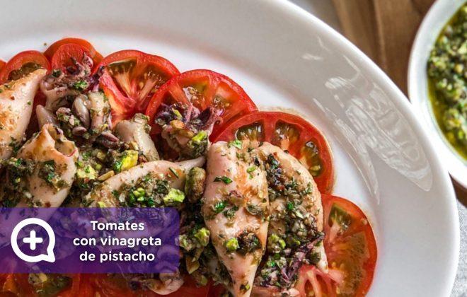 Ensalada de tomates, con vinagreta de pistachos, recetas fáciles, recetas, nutrición, salud, mediquo