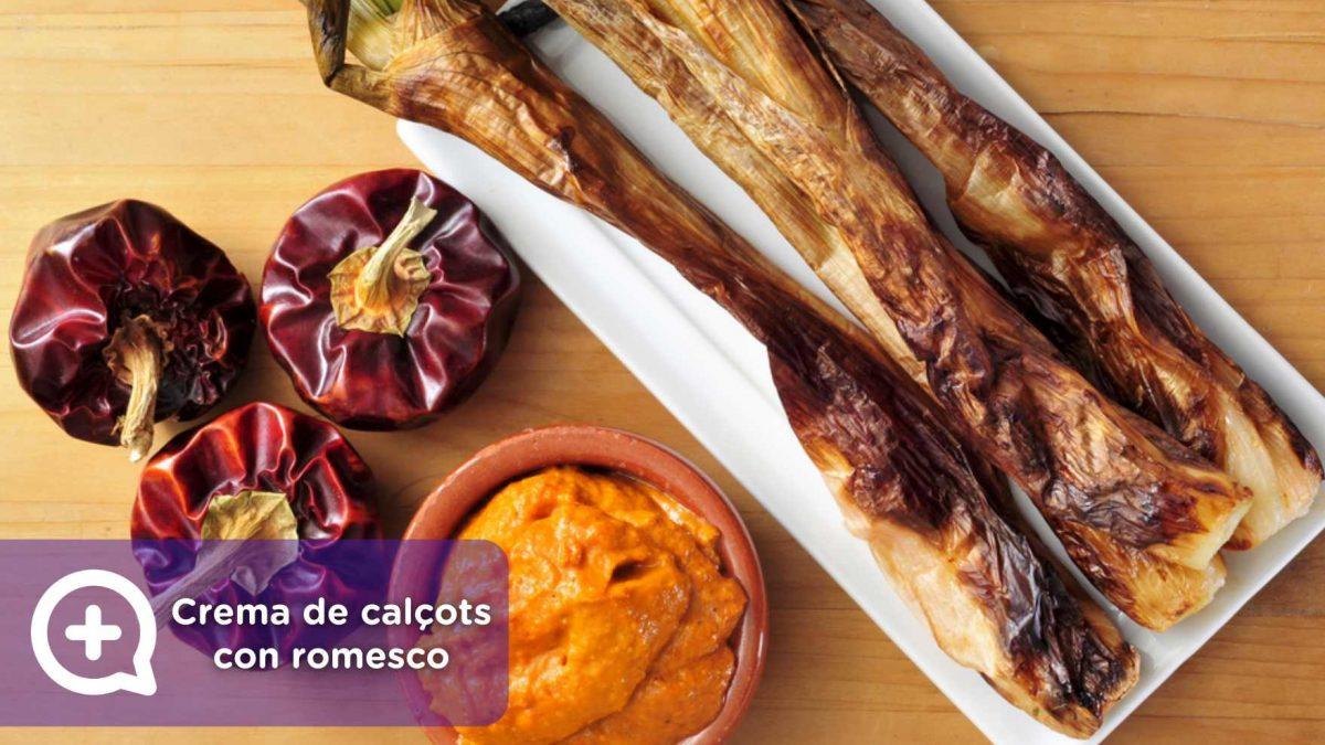 crema de calçots con romesco. recetas, recetas fáciles, vegetarianas, mediquo, nutrición.