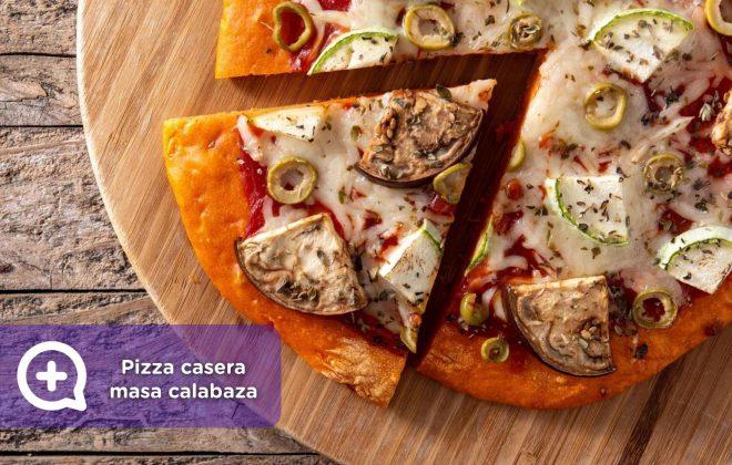 pizza casera masa calabaza, mediquo, nutrición, food, recetas fáciles, halloween, salud.