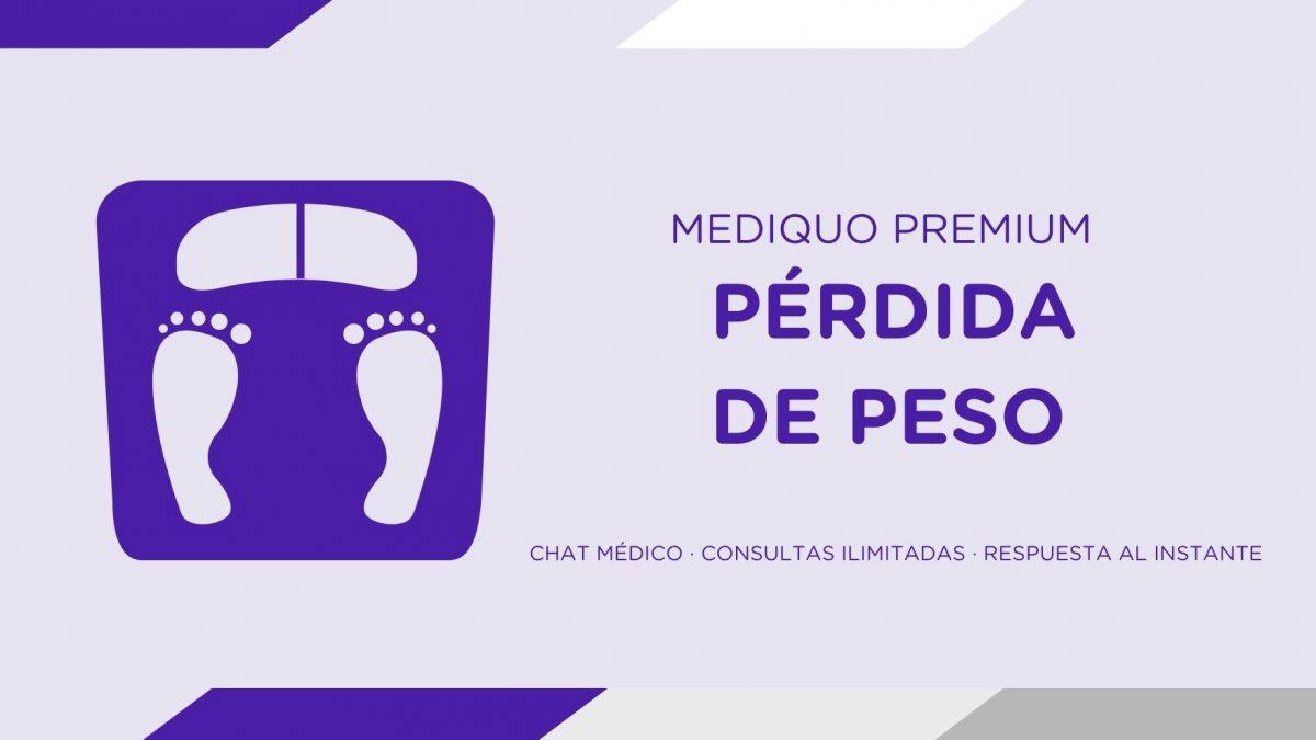 Plan premium perder peso mediQuo, Alimentación saludable plan premium mediQuo. Asesoría Digital. Telemedicina. Chat médico. Salud.