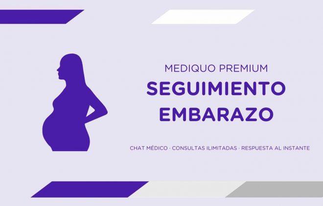 Plan premium Seguimiento embarazo mediQuo. Asesoría Digital. Telemedicina. Salud. Chat médico.