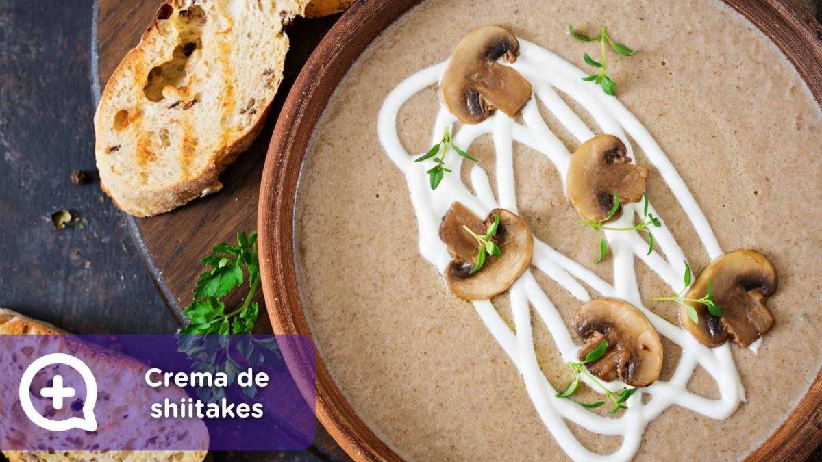 Crema shiitakes, setas, mediquo, recetas, recetas fáciles, salud, navidad, recetario