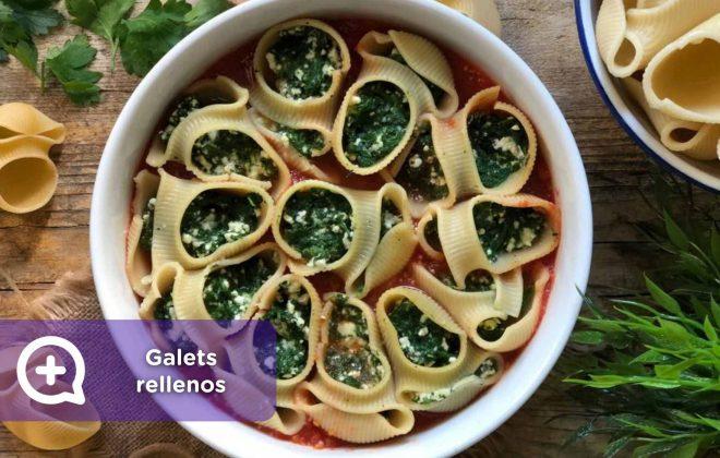 galets rellenos de espinacas y ricotta, mediquo, nutrición , recetas, recetas fáciles