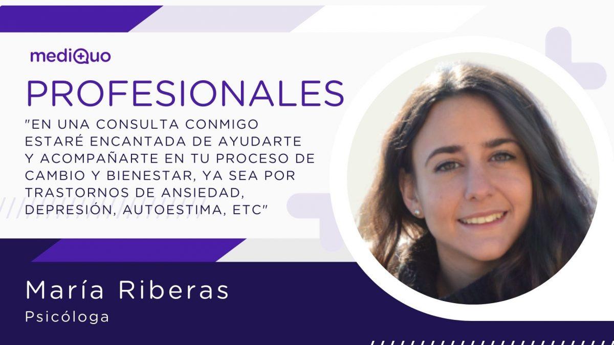 María Riberas psicóloga mediQuo. Psicoterapia, Salud mental, ayuda psicológica online, chat médico, consulta online. salud