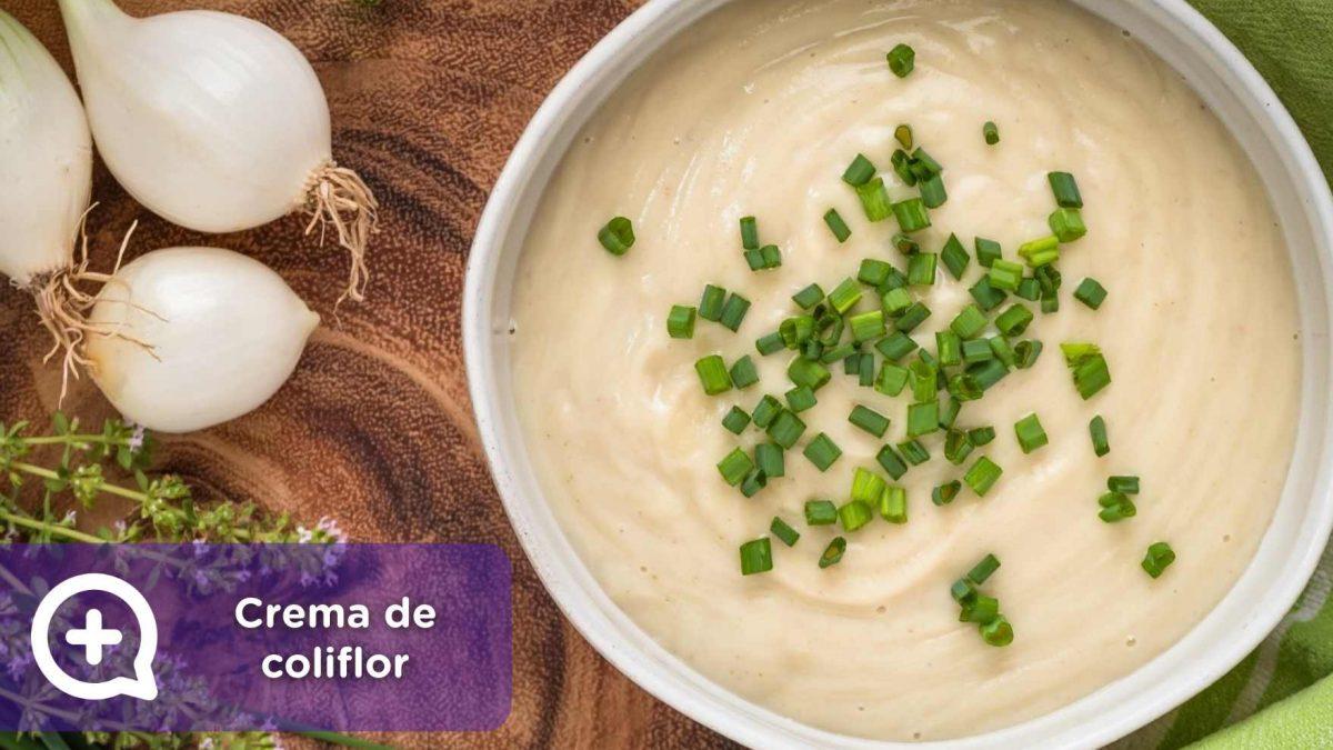 receta crema de coliflor, recetas saludables, recetas fáciles, mediquo, nutrición, salud