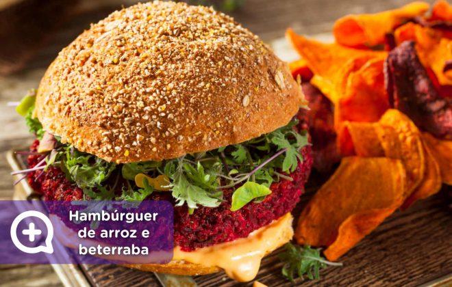 hambúrguer de arroz e beterraba, receita, receitas fáceis, médico, saúde, nutrição