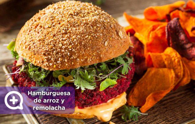hamburguesa de arroz y remolacha, receta, recetas fáciles, mediquo, salud, nutrición