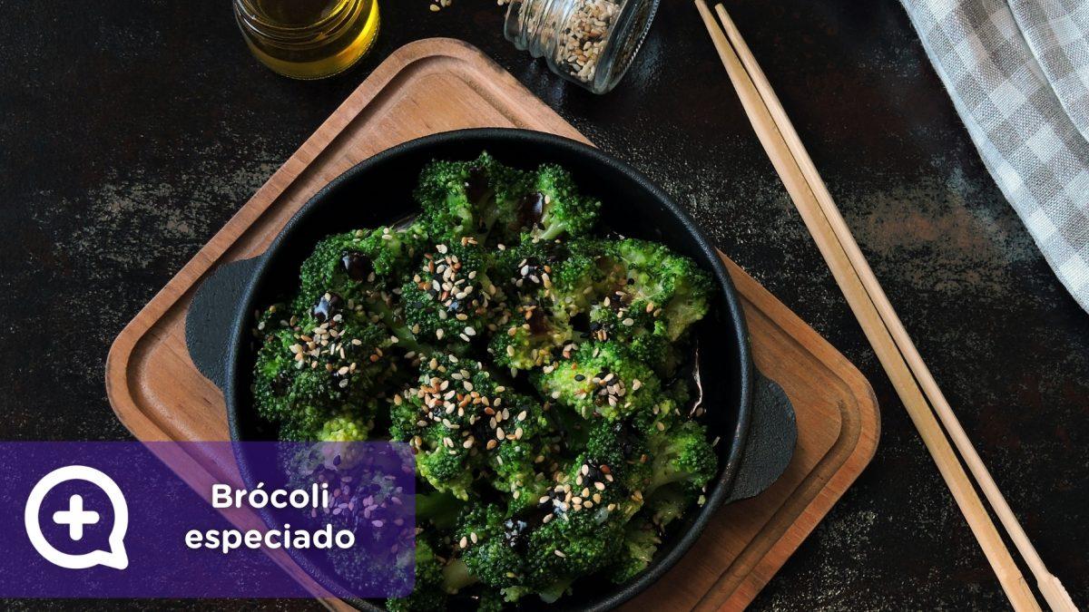 Brócoli especiado a la sartén con jengibre y coco. Nutrición, Salud. MediQuo. Recetas. Recetas saludables.