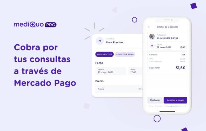 Cobra tus consultas mediQuo PRO y Mercado Pago