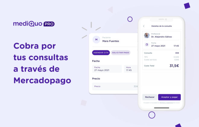 Cobra tus consultas mediQuo PRO y Mercadopago