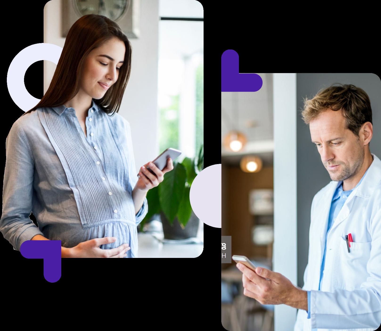 Paciente y doctor. Chat, llamada y videollamada.
