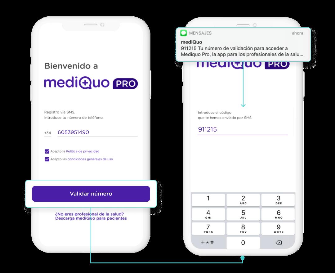 Registro mediQuo PRO