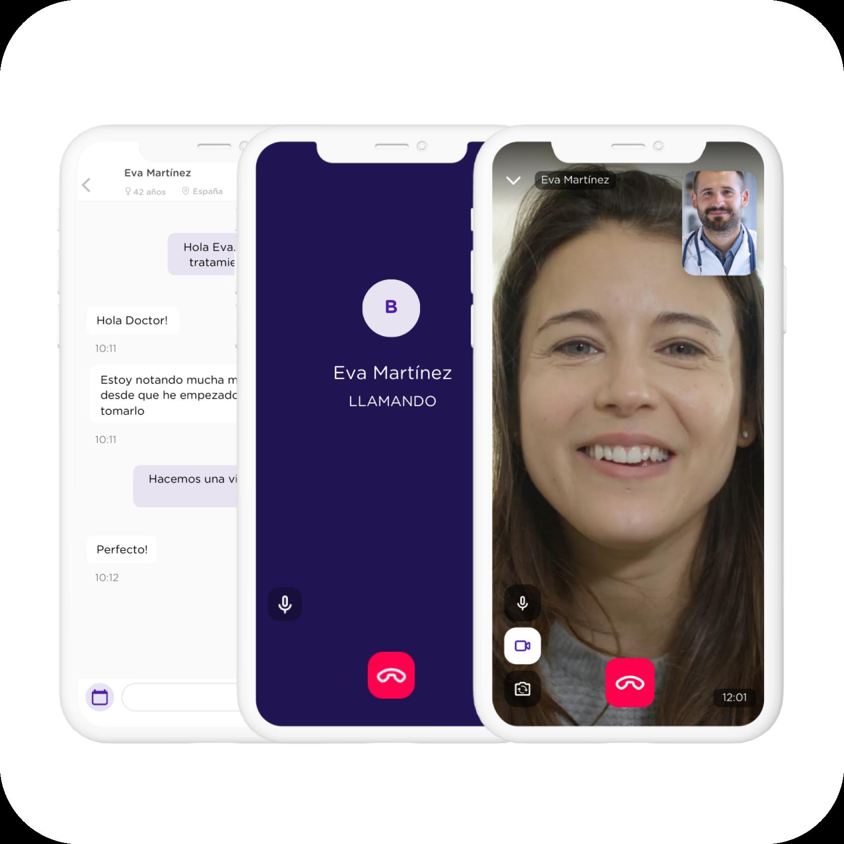 Chat y videollamada app_MediQuo PRO